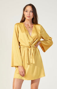 MINKPINK Glow Satin Jacquard Mini Dress