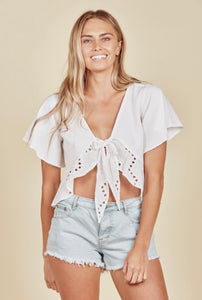 DAISY SAYS // Baja Wrap Top White