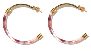 EMELDO // Gia Luxe Hoop Pink and Marble with Gold
