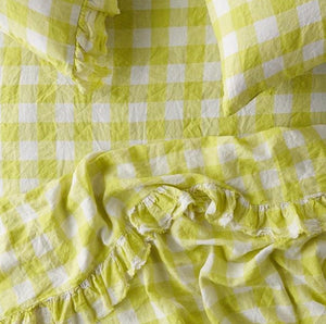 SOCIETY OF WANDERERS // Ruffle Flat Sheet Limoncello