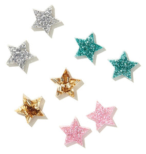 EMELDO // Star Studs / Silver/ Teal / Pink / Chunky Gold