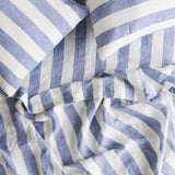 SOCIETY OF WANDERERS Flat Sheet - Chambray Stripe KING