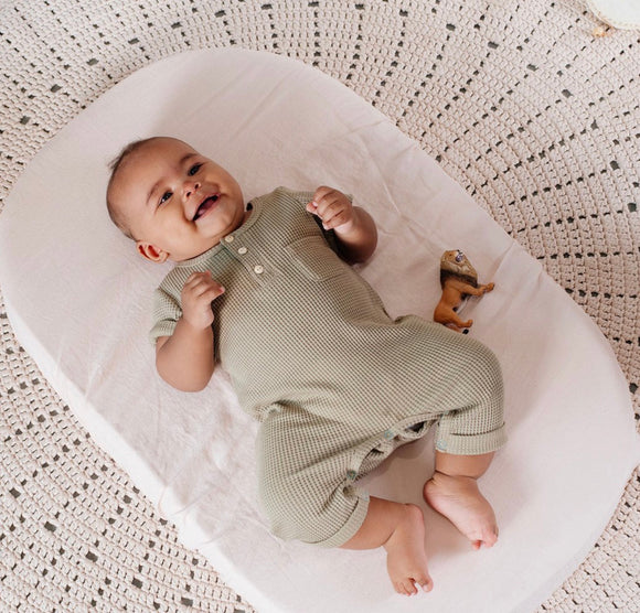 CHILDREN OF THE TRIBE // Sage Waffle Romper