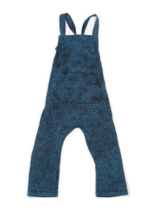 CHILDREN OF THE TRIBE Stonewashed Teal Overalls