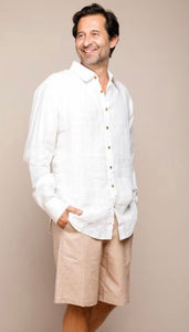 TRUE NORTH // Khadi Linen Shirt White