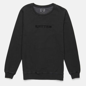 RHYTHM MENS Washed Out Pullover - Washed Charcoal