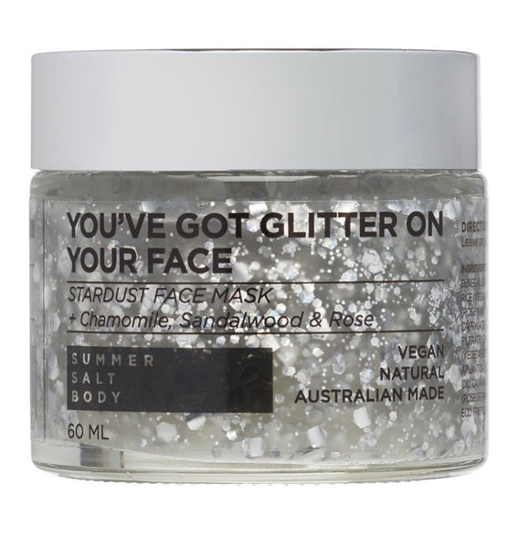 SUMMER SALT BODY //  You've Got Glitter On Your Face Stardust Face Mask 60ml