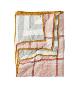 SOCIETY OF WANDERERS // Standard Double Sided Quilt - Floss/Fog Stripe