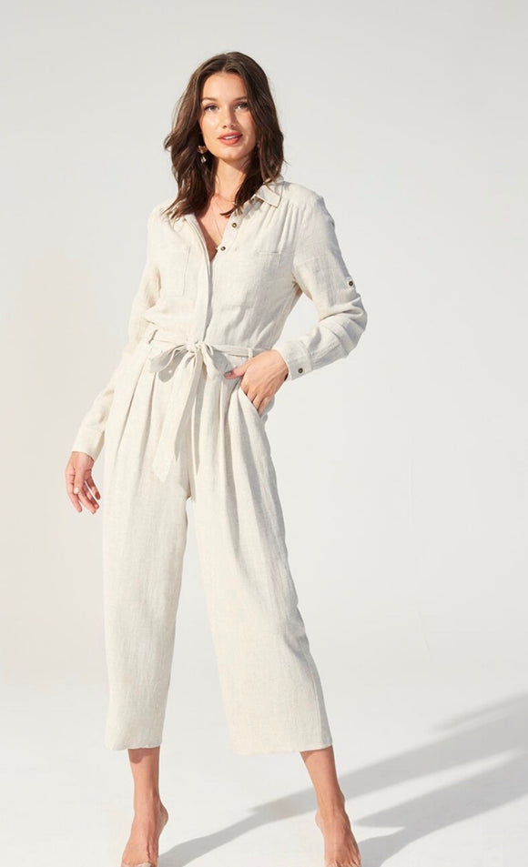 MINK PINK Linen Boilersuit