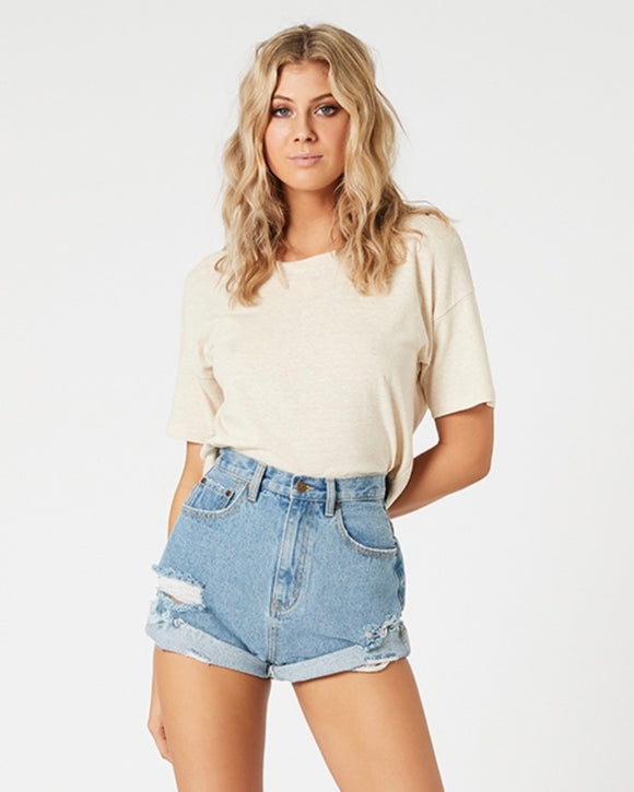 MINKPINK // Light Denim wash Carefree denim Shorts