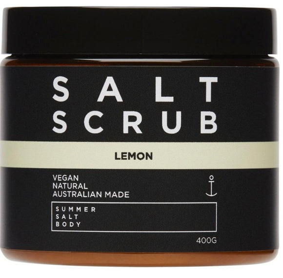 SUMMER SALT BODY Lemon Salt Scrub - 400g Tub
