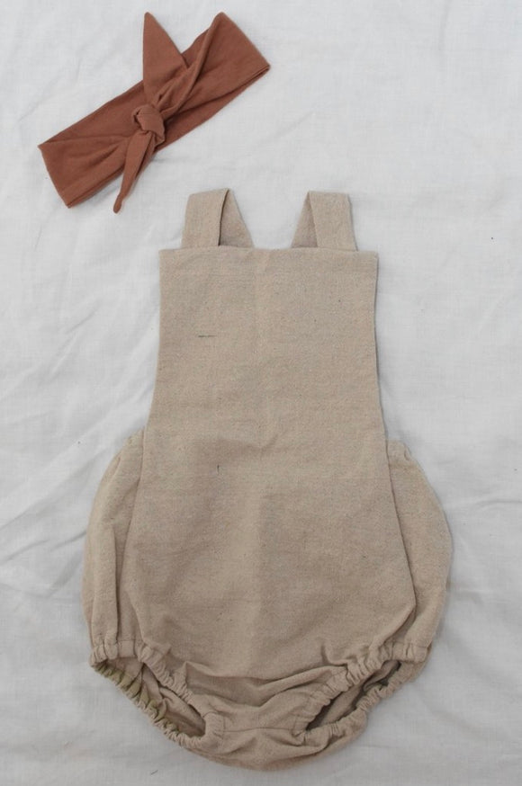 IRIS Natural Linen Romper (Large) 20 %OFF