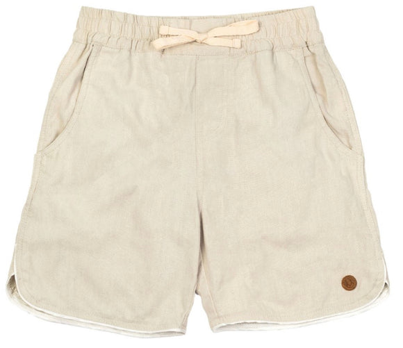 CHILDREN OF THE TRIBE // Ecru Drawstring Shorts
