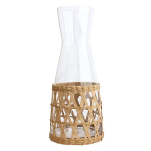 HK LIVING Wicker Glass Jug