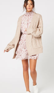 MINKPINK// Daphne Cable Knit Cardigan