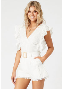 MINKPINK // Angelic Broderie Anglaise Top white