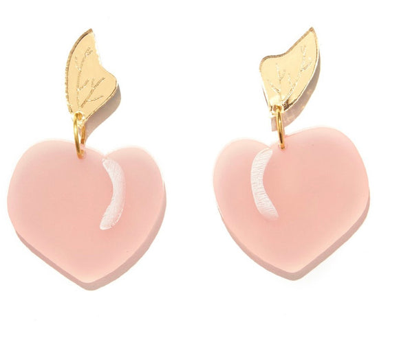 EMELDO // Peach Earrings Pink + Gold