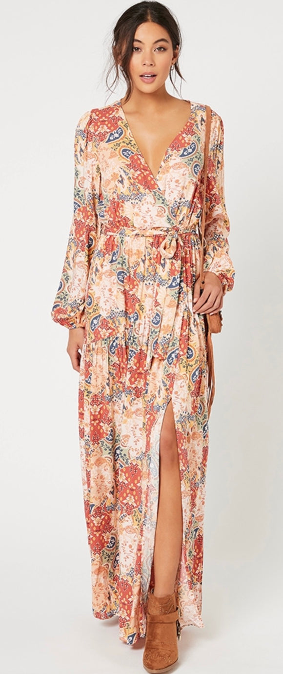 MINKPINK// Patchwork Paisley Maxi Dress