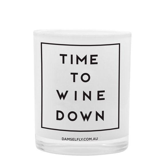 DAMSELFLY candle - 'Time to Wine Down'
