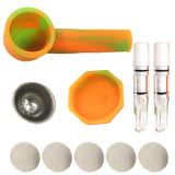 Silicone Pipe With Glass Mouthpiece and Lid