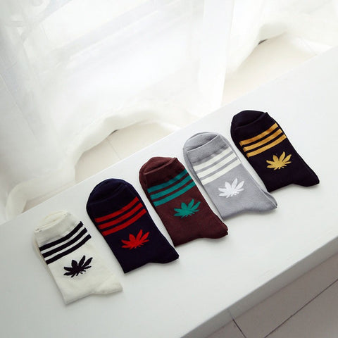 Weed Crew Stripe Socks