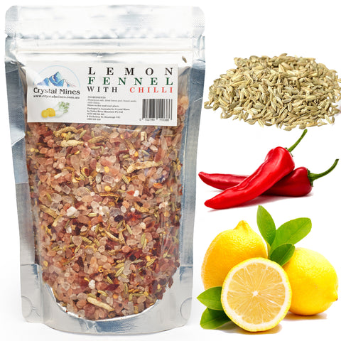 Himalayan Salt with Lemon Fennel and Chilli Refill 350 g 2X Refill