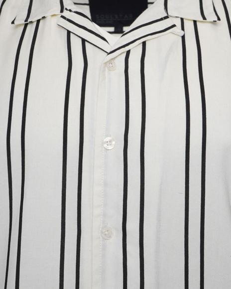 0 Soft Feel Classic Stripe Shirt White