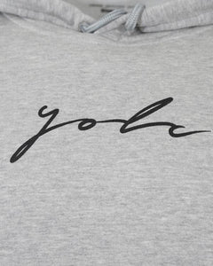 Signature Hoodie Heather Grey Black