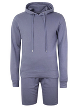 Load image into Gallery viewer, Hoodie & Shorts Set Blue
