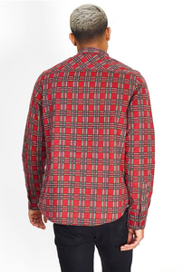 Flannel Tartan Shirt Red