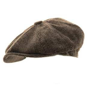 Shelby Newsboy Cap Lt Brown