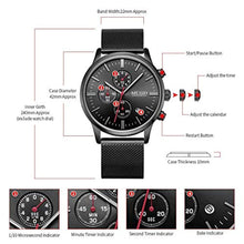 Load image into Gallery viewer, Chrono Mesh Watch Black