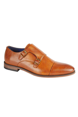 Monk Strap Shoes Tan