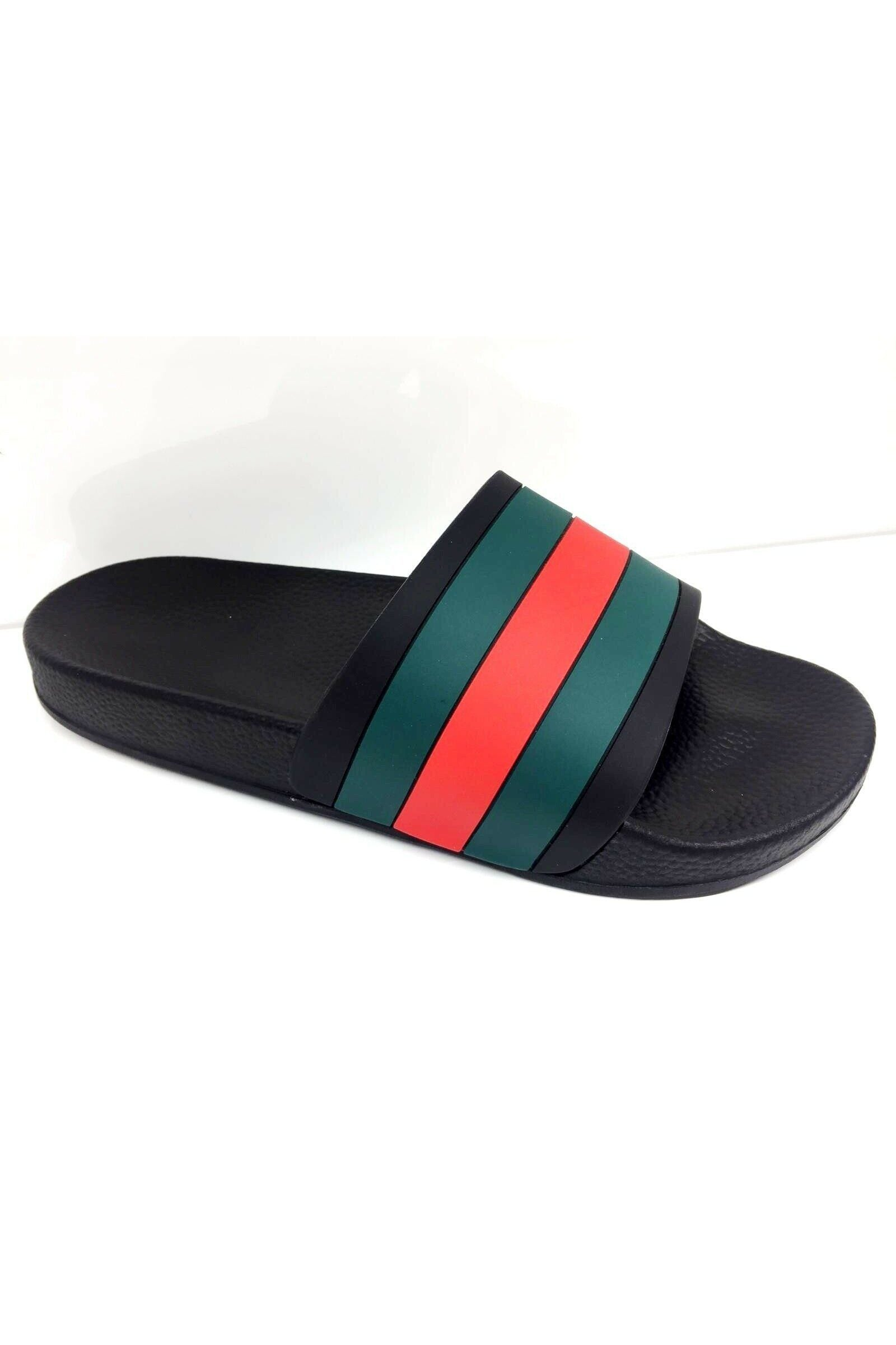 Red Green Slides Black