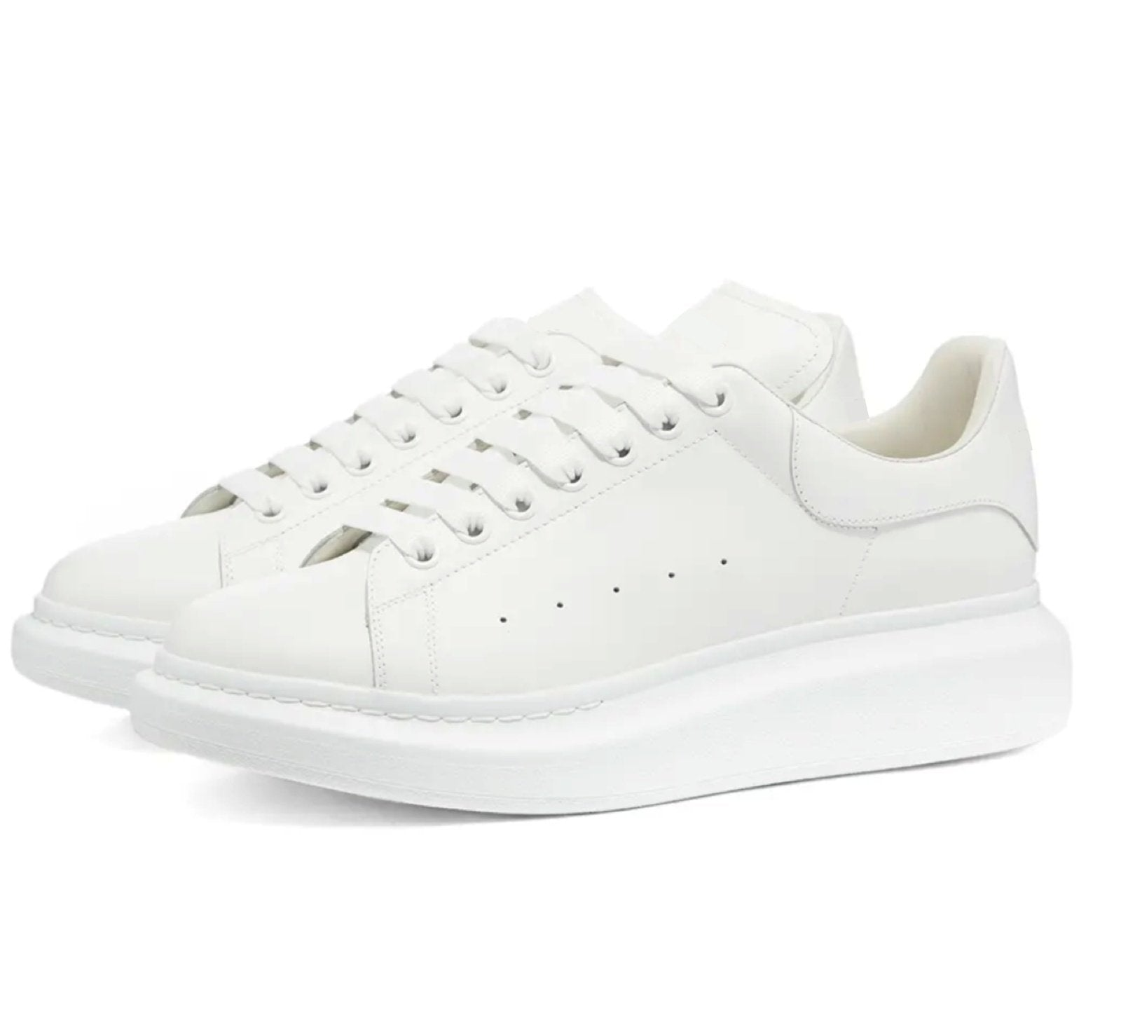Thick Sole Trainers White/ White