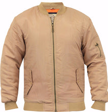 Load image into Gallery viewer, Boxter Padded Bomber MA1 Jacket Sand