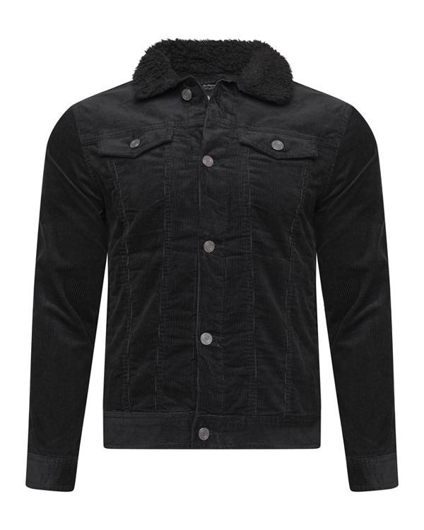 Cord Sherpa Jacket Black