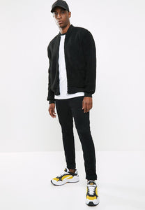 Fleece Bomber Jacket Black
