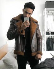 Load image into Gallery viewer, Lux Pilot Jacket Brown