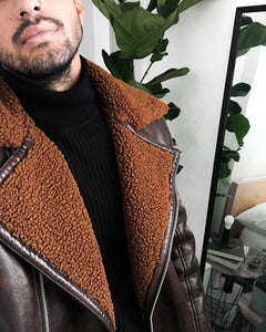 Lux Pilot Jacket Brown
