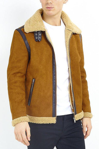 Pilot Jacket Borg Collar Tan