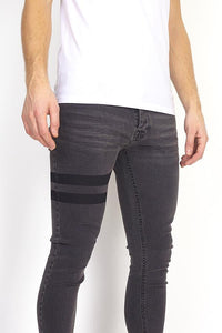 Skinny Jeans Band Double Black