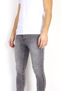 Skinny Washed Jeans Grey