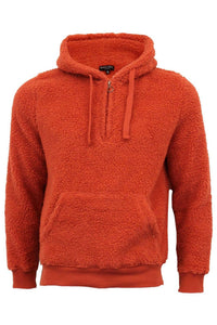 Sherpa Fleece Hoodie Orange