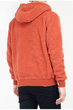 Load image into Gallery viewer, Sherpa Fleece Hoodie Orange
