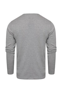 0 Lightweight Raw Edge Knit Grey