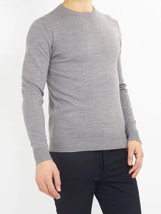 Crew Lightweight Knit Knit Grey