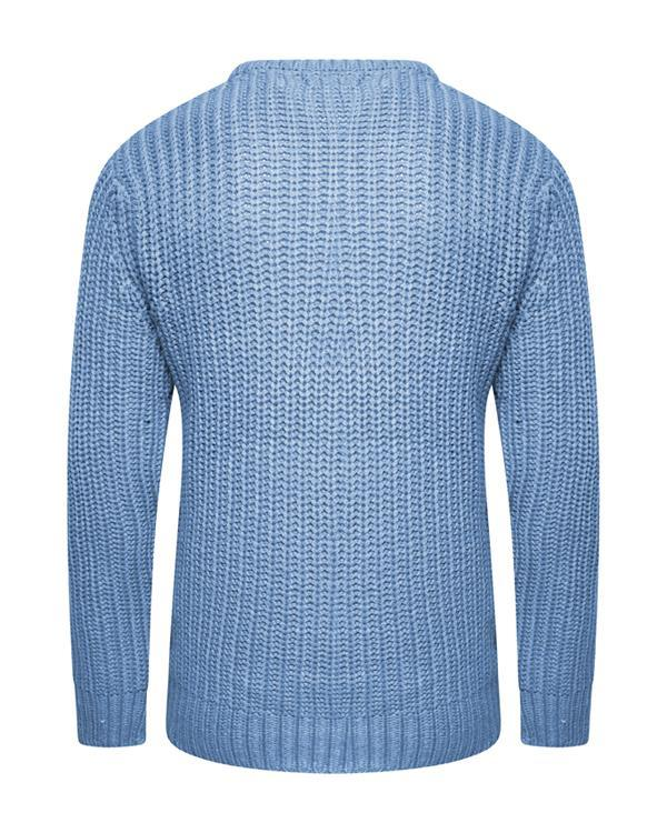Fisherman Jumper Dusty Blue