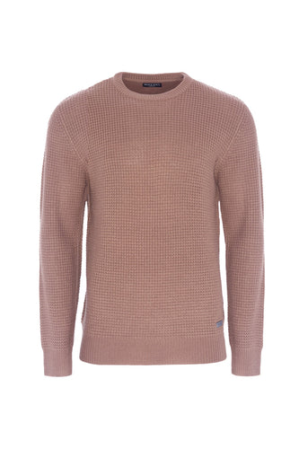 Lightweight Fisherman Knit Dusty Pink