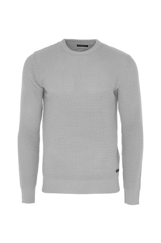 Lightweight Fisherman Knit Grey